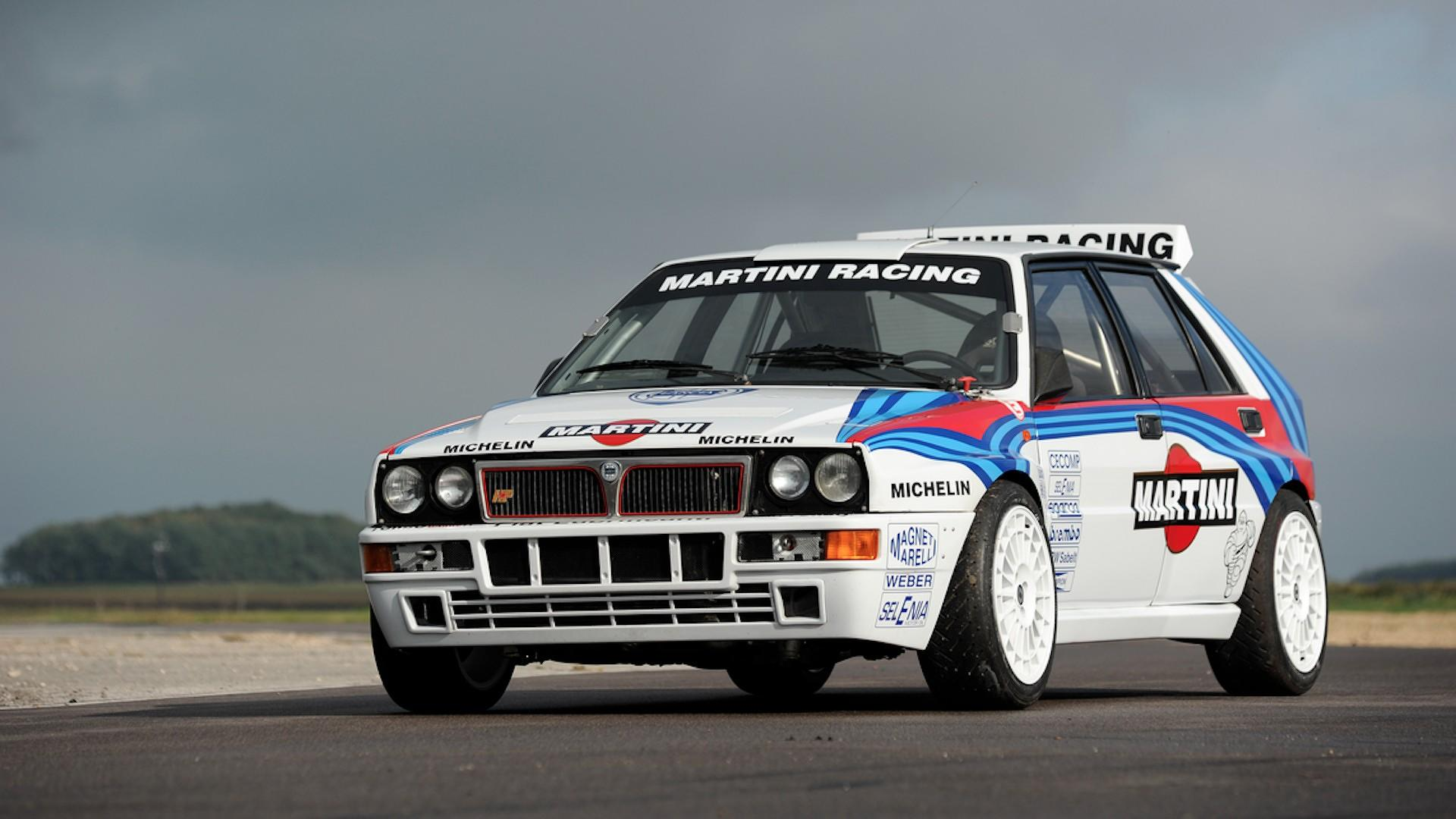 rally driven lancia delta causes bidding war sells for 297k. Black Bedroom Furniture Sets. Home Design Ideas