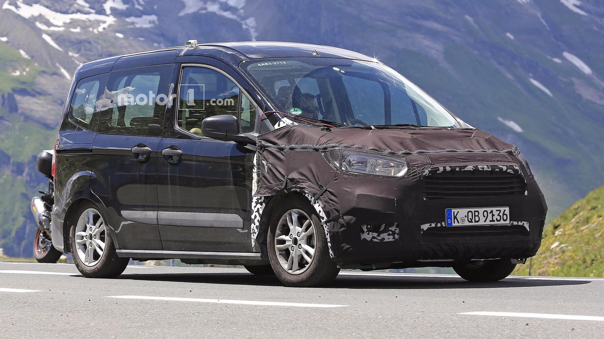 Ford Tourneo Courier Facelift >> Ford Tourneo Courier Facelift Spied With Even More Camo