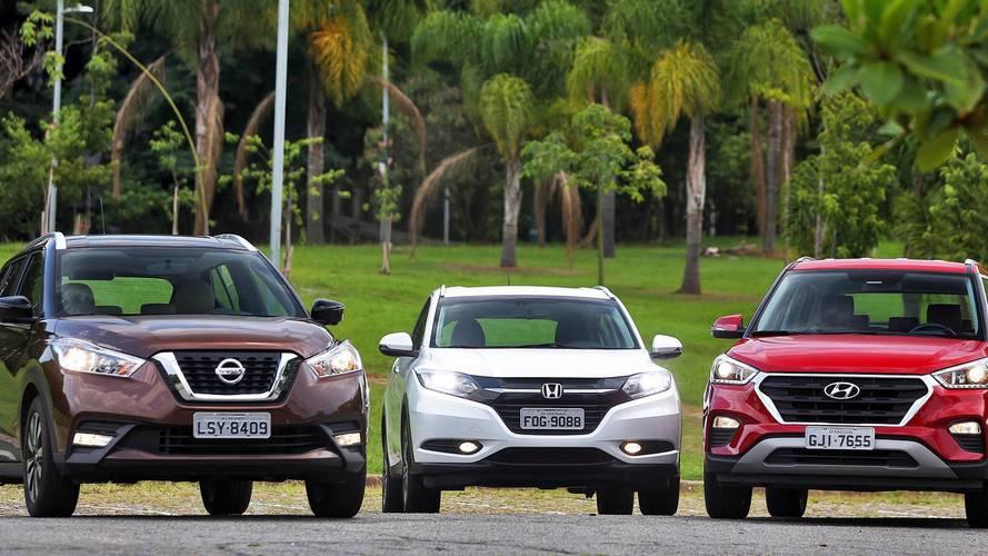Comparativo Honda HR-V, Hyundai Creta e Nissan Kicks - Reagrupamento