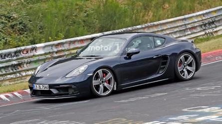 Porsche 718 Cayman GTS kamuflajsız olarak Nürburgring'de