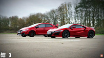 Honda NSX vs Honda Civic Type R