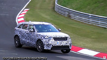 2019 Range Rover Velar SVR screenshots from spy video