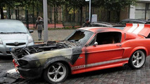 Shelby Mustang GT500 burns 10.11.2013