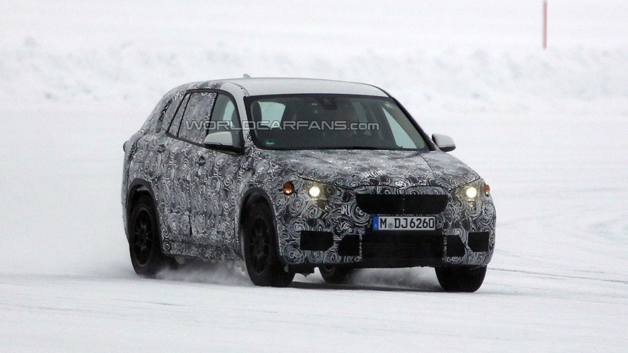 2015 BMW X1 spied undergoing cold weather testing