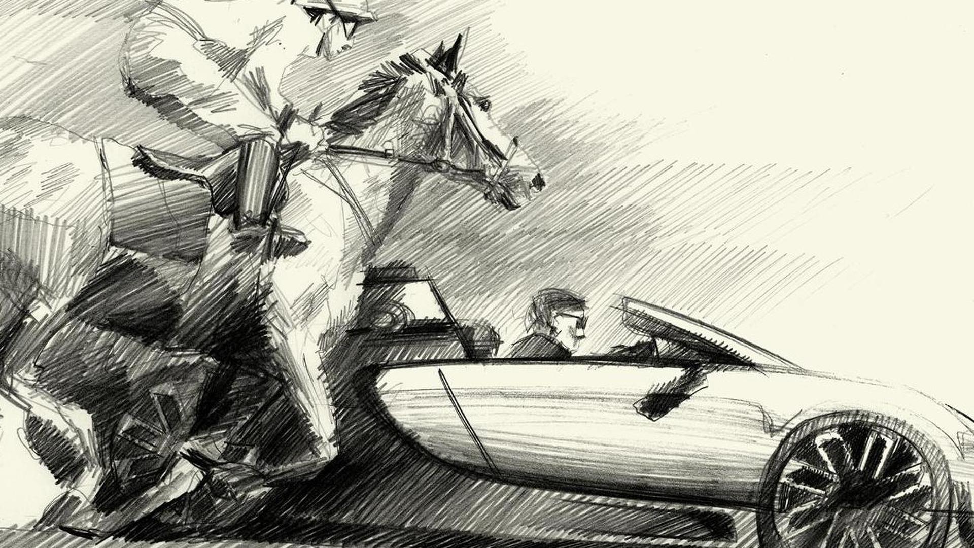 Bugatti Veyron Ettore Bugatti Edition против лошади