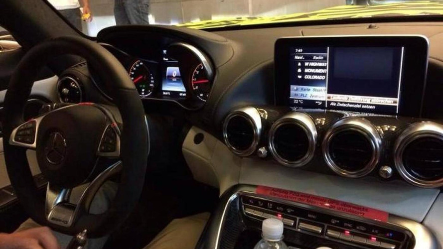 Mercedes-AMG GT interior photographed without camo