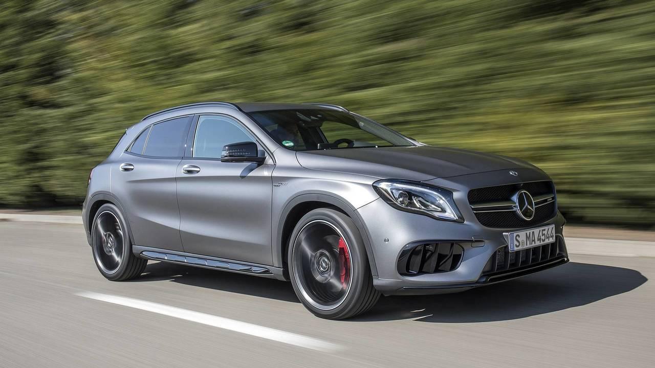 1. Mercedes-AMG CLA45 / GLA45: @.0L turbocharger I4, 375 hp, 350 lb-ft
