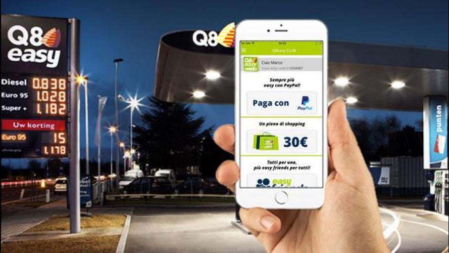 Nei distributori Q8 il pieno si paga con lo smartphone e Paypal