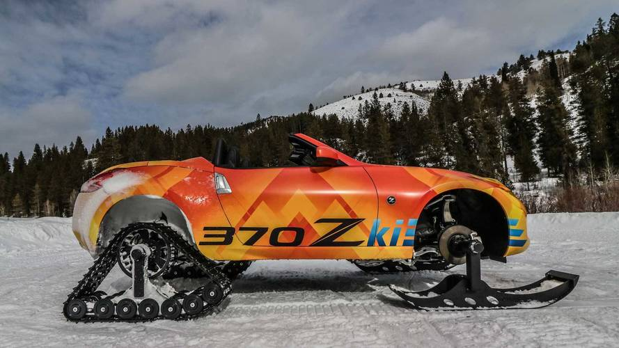 Nissan's '370Zki' snowmobile comes out to play