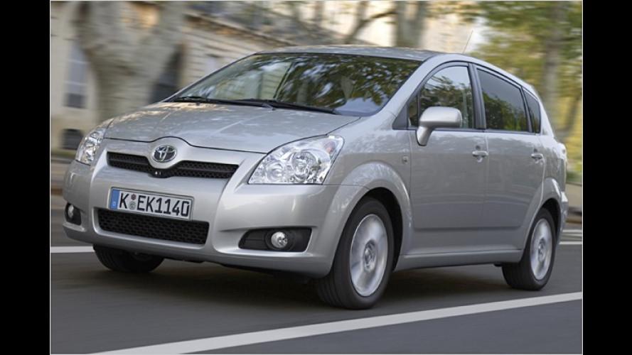 Toyota modifiziert die Ausstattungslinien des Corolla Verso