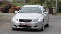first spy pics of next-gen Lexus GS