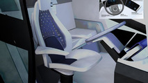 Volvo Concept Truck 2020, The driver's environment is spacious, airy and free of disruptive details. The sleek driver's seat has a thin, ventilated mesh backrest and is more like a modern office chair than a traditional driver's seat, 1600, 04.06.2010