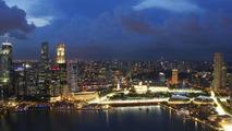 Skyline and the Marina Bay Street Circuit - Formula 1 World Championship, Rd 15, Singapore Grand Prix, 23.09.2010