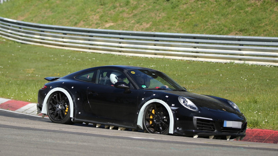 Next-gen Porsche 911 chassis testing mule arrives at the 'Ring