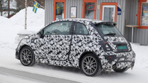 2017 Fiat 500 Abarth facelift spy photo