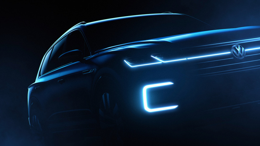VW teases high-tech SUV with 376-hp hybrid power