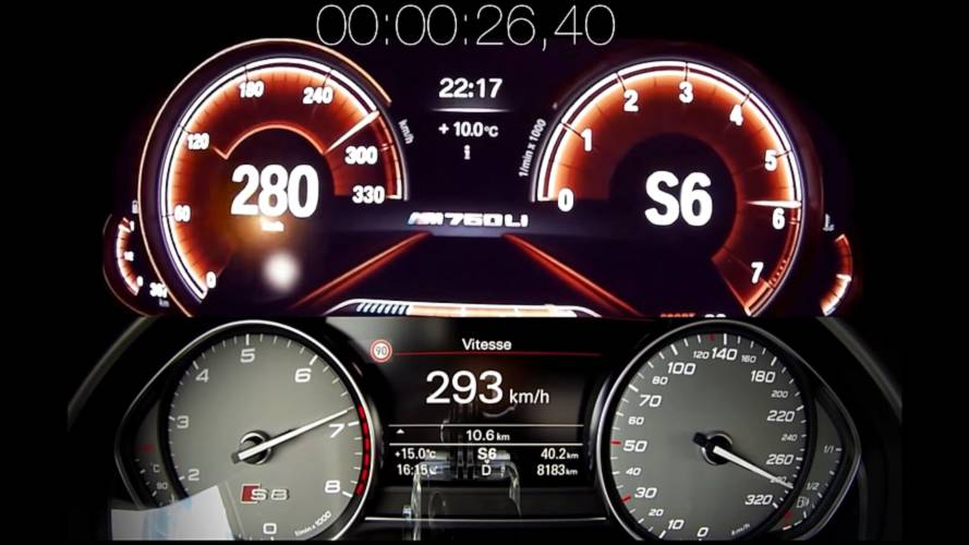 Audi S8 Plus Races BMW M760Li To See Which Big Sedan Is Quicker