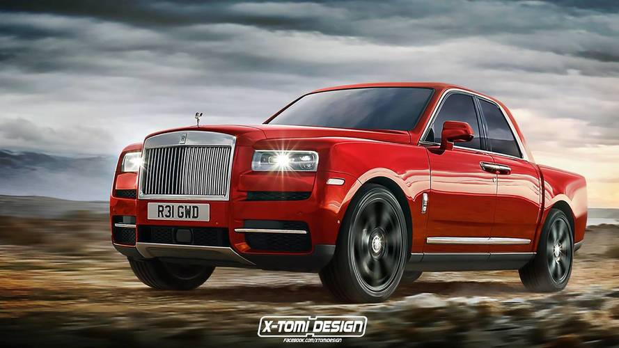 Rolls Royce Cullinan Rendered As Pickup Convertible Coupe