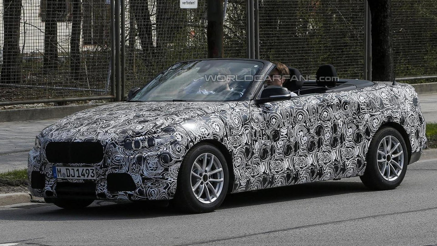 BMW 2-Series Cabrio spied with the top down