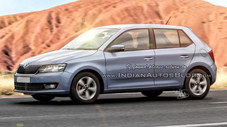 2015 Skoda Fabia rendered based on recent spy shots