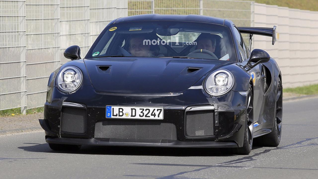 700 Hp Porsche 911 Gt2 Spied Flaunting Huge Exhaust Tips