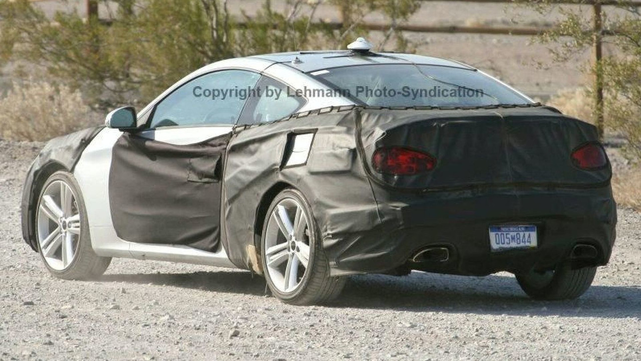 All New Hyundai RWD Sports Coupe Spy Photos