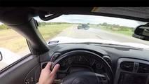 Dodge Hellcat Races Chevy Corvette