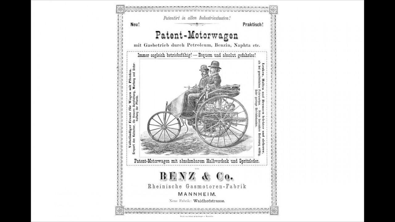 Benz-Werbung