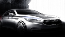 All-new Kia K9 flagship sedan sketch