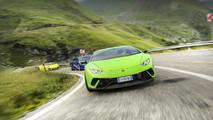 Lamborghini Huracans na estrada Transfagarasan