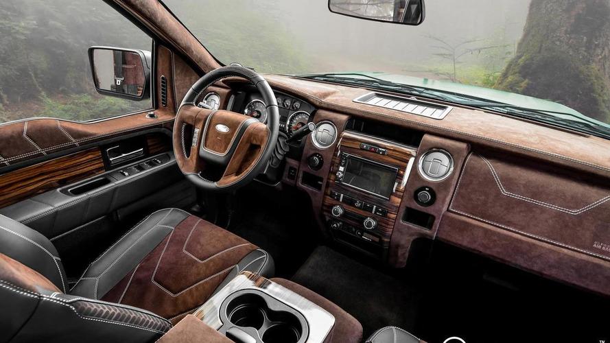 Ford F-150 interior restyled by Carlex Design
