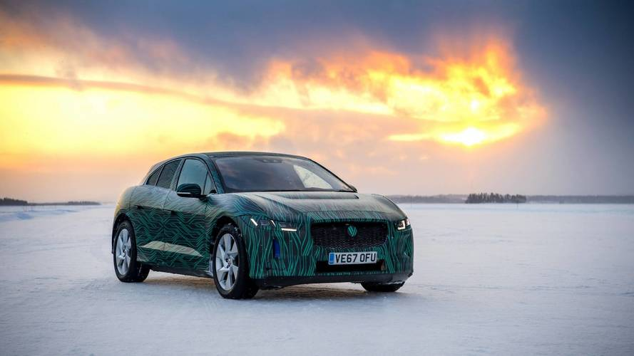 Jaguar I-Pace teased drifting on ice