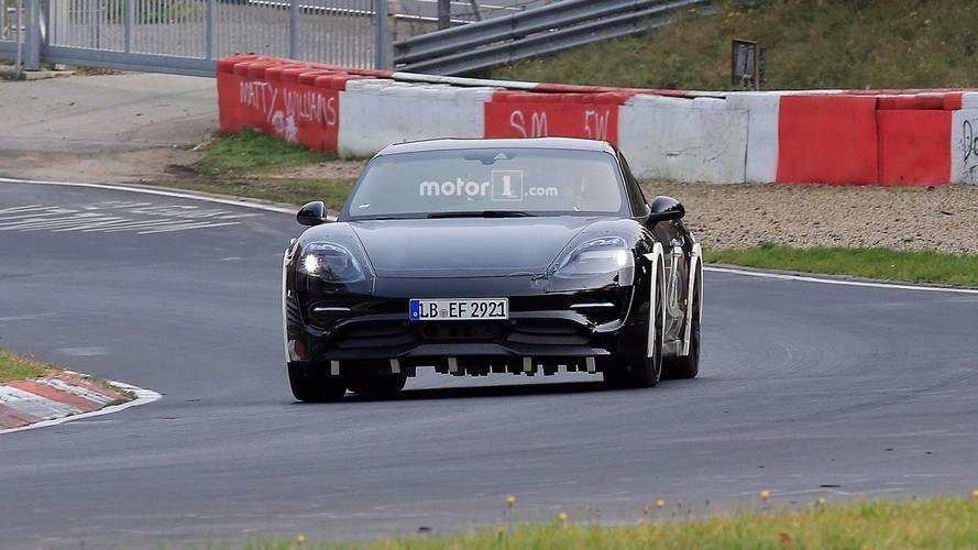Porsche Mission E Nurbugring Spy Photos