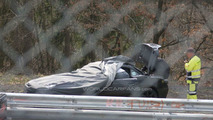 2012 Mercedes-Benz SLK prototype smokes at Nurburgring