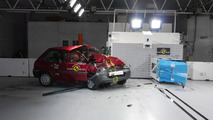 Euro NCAP Rover 100 and Honda Jazz crash test