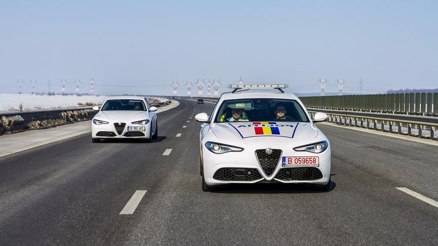 La police roumaine roule en Alfa Romeo Giulia