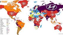 Carte marques monde