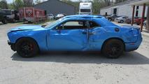 Crashed Dodge Challenger SRT Hellcat