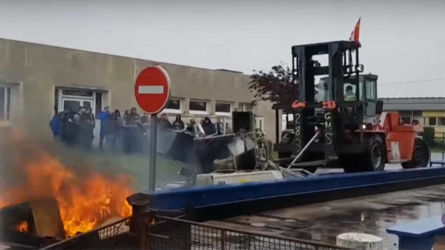 Workers Take Machinery Hostage At French Factory Facing Shut Down