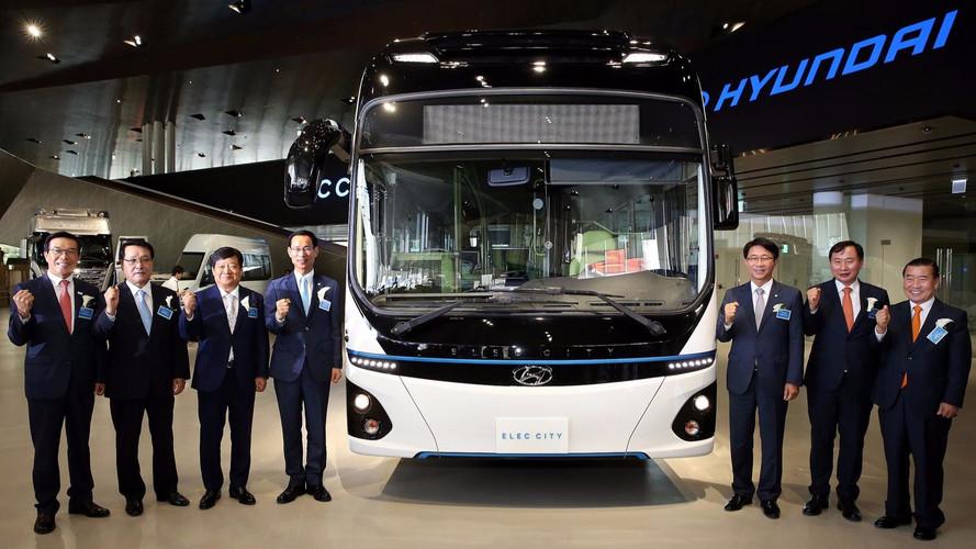 Hyundai'nin 290 kilometre menzilli elektrikli şehir otobüsü tanıtıldı