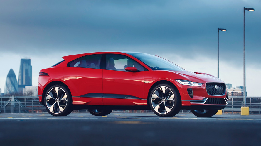 Jaguar I-Pace Concept turns red for EU debut