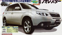 Subaru 2009 Forester magazine scans