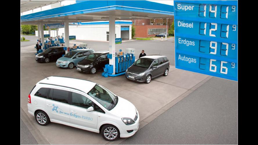 Opel-ecoFlex-Modelle: Benzin, Diesel, Autogas und Erdgas