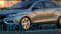 Lada Vesta concept spotted on the road ahead of Moscow Motor Show launch