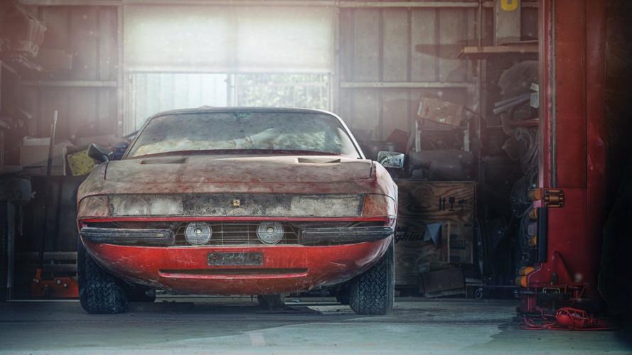 Eladósorban az ismeretlen Ferrari Daytona – az egyetlen alumínium kasztnis Berlinetta
