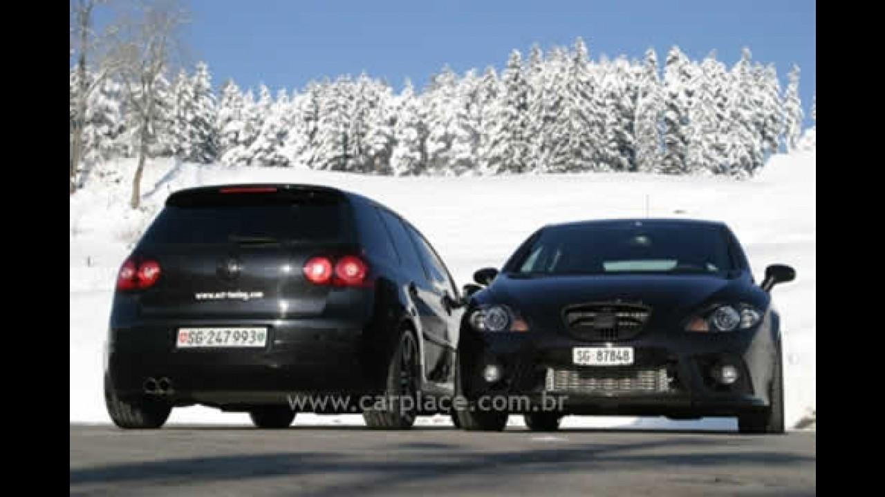"""Volkswagen Golf GTI e Seat Leon tunados pela O.CT ficam bem mais """"nervosos"""""""