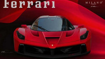 Ferrari F150 front render based on official teaser photo