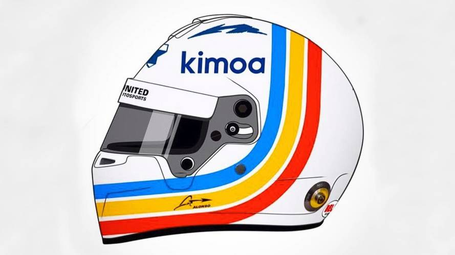 Fernando Alonso se pasa al blanco en el casco para Daytona