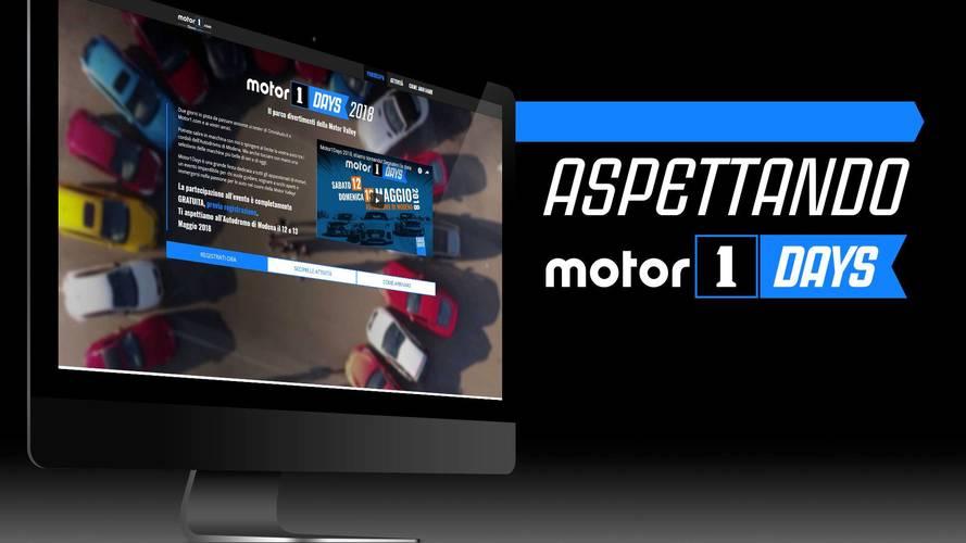 Motor1Days 2018, sono aperte le registrazioni online