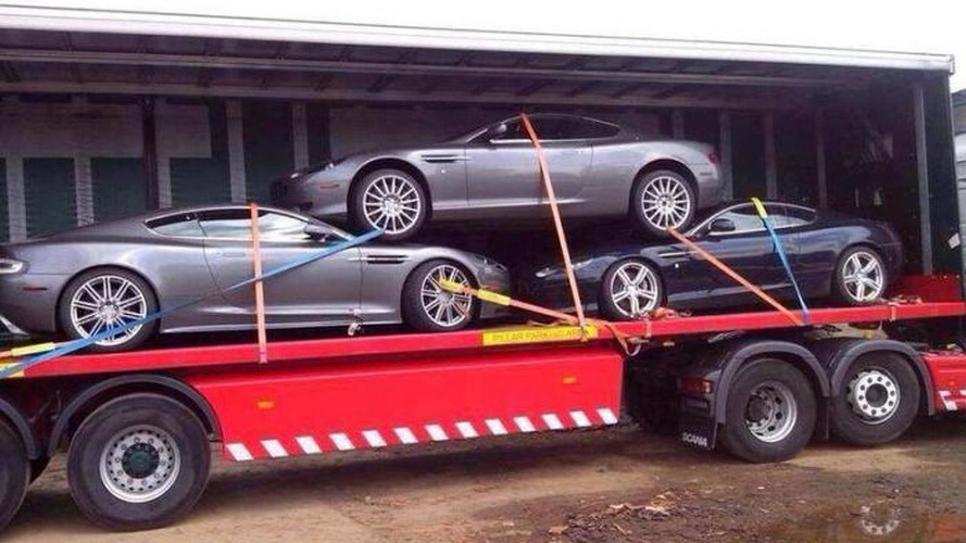 Photo of Aston Martin trio being transported like scrap cars is just wrong